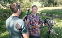 Rob Nelson interviews Jonas Stenstrom on camera