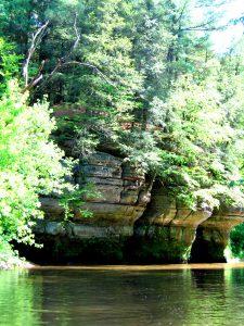 cliffs over the Kickapoo River
