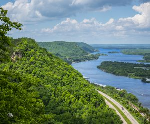 Summertime view of the Mississippi River from Great Spirit Bluff (c) Timothy Jacobson