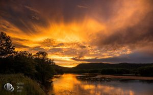 Golden Crown of Clouds Over Prairie du Bay at Sunset (c) Timothy Jacobson