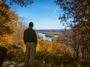Looking over Wisconsin River from Wyalusing State Park (c) Timothy Jacobson
