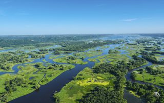 Aerial photo of Pool 8 channels of the Mississippi River (c) Timothy Jacobson