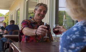 a couple toasts with wine produced in the Driftless Region