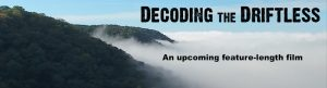 Decoding the Driftless film - aerial photo of foggy bluffs along Mississippi River